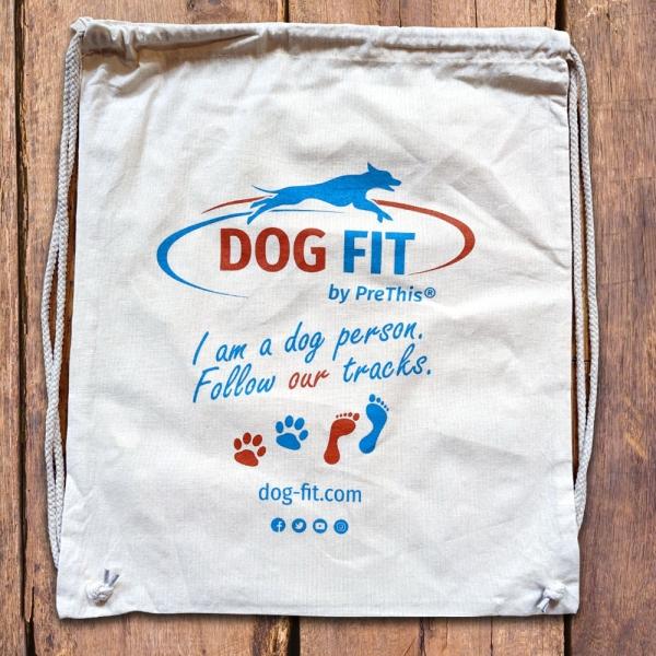 Tragetasche Baumwollbeutel - DOG FIT by PreThis®
